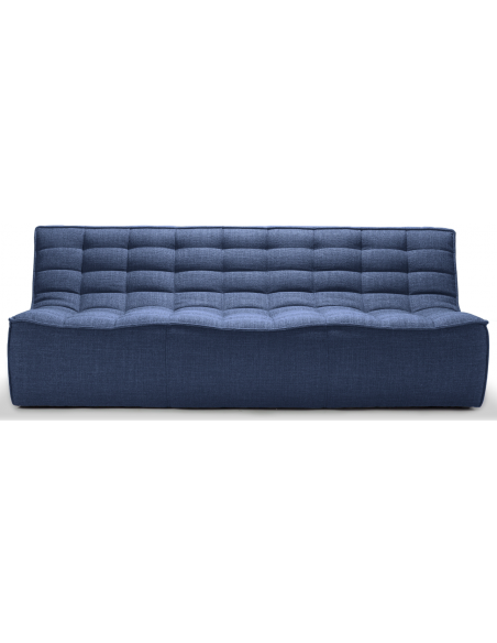N701 Sofa - 3 seater - blue fabric 210 x 91 x 76