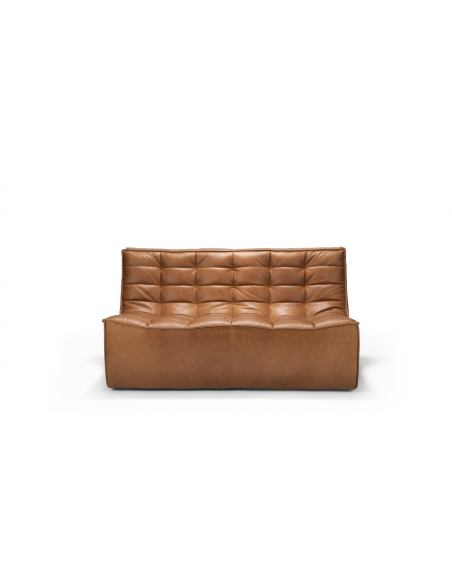 N701 SOFA - 2 seater - old saddle cognac leather 140 x 91 x 76