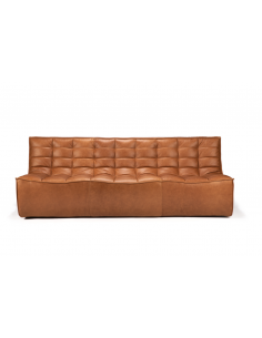 N701 SOFA - 3 seater - leather old saddle 210 x 91 x 76