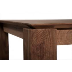 Teck table Slice - pieds 10 x 10 cm -150-150-77cm