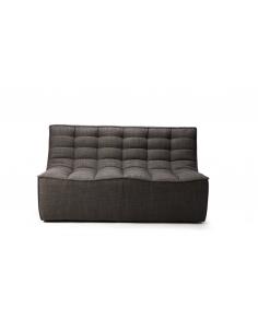 N701 canapé - 2 places - Gris foncé 140 x 91 x 76