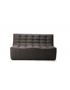 N701 sofa - 2 seater - dark grey 140 x 91 x 76