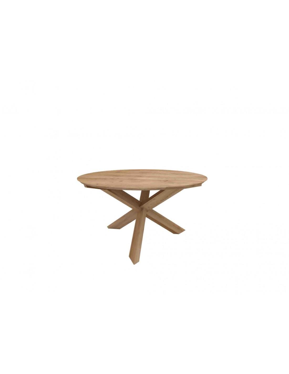 Furniture indoor Chene Table Circle-Table Ronde New diametre 9cm hauteur  9cm