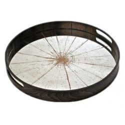 plateau Slice MIROIR ROND 48cm Diametre