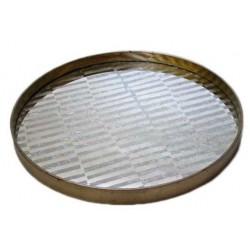 tray TRIBAL STRIPES Large MIRROR ROUND 61cm Diameter