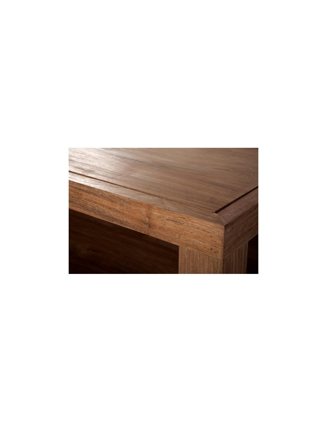Teck Duplex - table basse -80-80-37cm