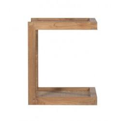 Teck Frame Sofa bout de canape FSC -48-40-48cm