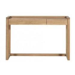 Chene Frame PC desk-2 tiroirs-120-43-82cm-Nouveau