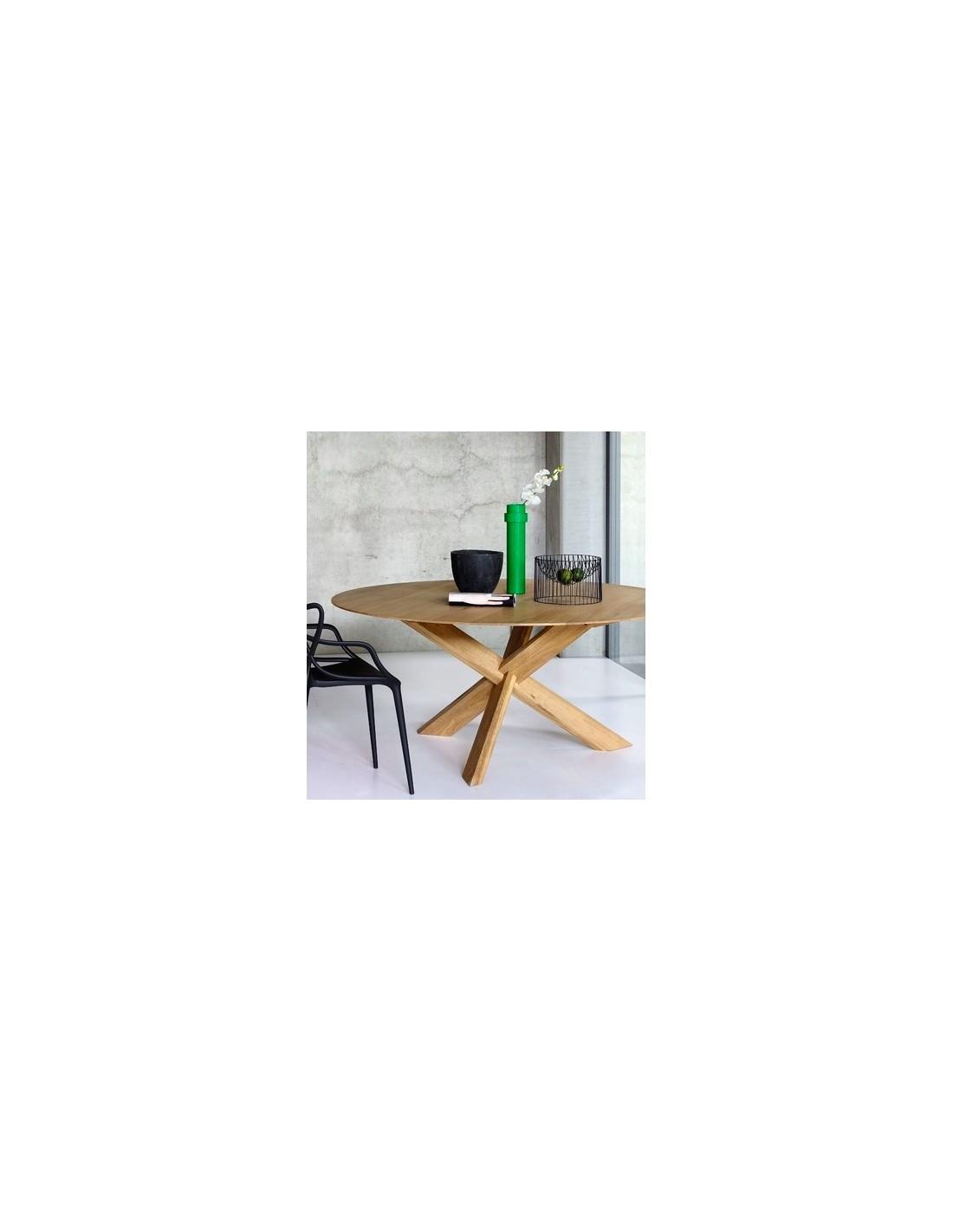 Furniture indoor Teck table Circle – Nouveau diametre 9 hauteur 9 cm