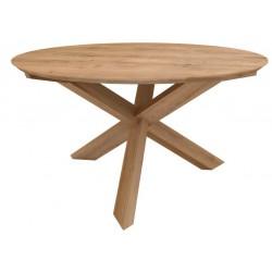 Teck table Circle – Nouveau  diametre 136hauteur 76 cm
