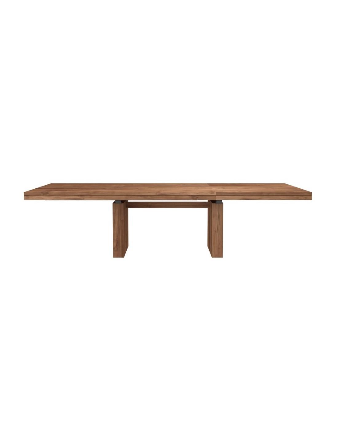 Furniture indoor Teck table à rallonges Double 9-9-9 Hauteur 9cm