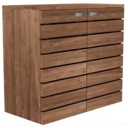Teck Horizon - buffet - 2 portes -1 tiroir interieur 80-40-75cm