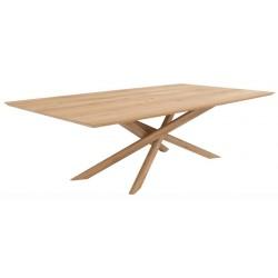 Chêne table Mikado -240-110-76cm- Nouveau