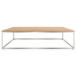 Chene Thin-table basse-cadre inox-120-70-30cm
