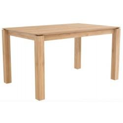 Chêne table Slice - pieds 8 x 8 cm-140-80-77cm
