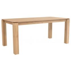 Chene table Slice-pieds 10 x 10-180-90-77cm