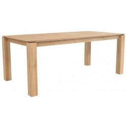 Chene table Slice-pieds 10 x 10-200-100-77cm