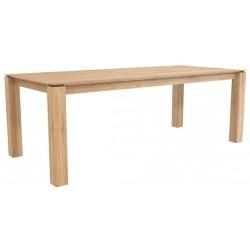 Chene table Slice-pieds 10 x 10-220-100-77cm