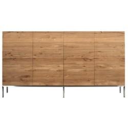 Chene Ligna-buffet haut-4 portes-220-45-120cm