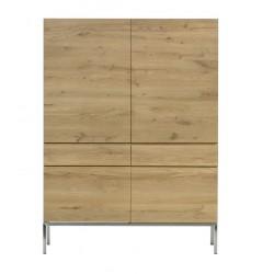 Chene Ligna-armoire-4 portes / 2 tiroirs-110-50-162cm