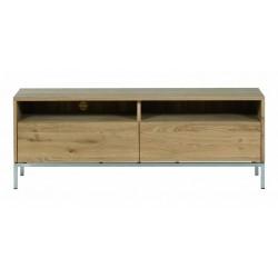 Chene Ligna-meuble TV-2 tiroirs-140-45-51cm