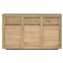 Chene Flat-buffet-3 portes / 3 tiroirs-150-45-90cm