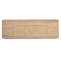 Chene Burger buffet-5 portes / 3 tiroirs-250-45-85cm