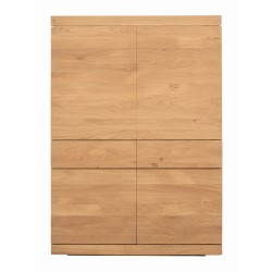 Chene Burger armoire-4 portes / 2 tiroirs-110-45-160cm