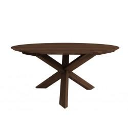 New walnut table circle