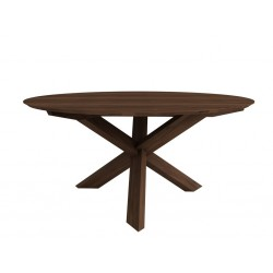 Nouveau noyer table circle
