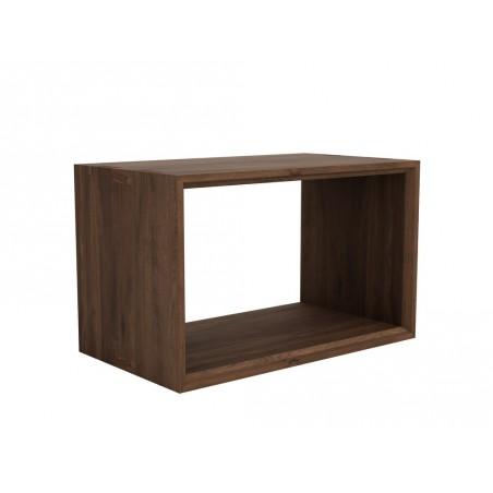 Noyer-Cube-cube-fermé-table-basse-73-42-45cm-Nouveau