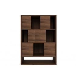 Noyer-Nordic-buffet-6-portes-coulissantes-90-46-126cm-Nouveau