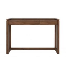 Noyer-Frame-PC-desk-2-tiroirs-120-43-81.5cm-Nouveau