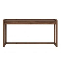 Noyer-Frame-PC-desk-2-tiroirss-160-43-81.5cm-Nouveau