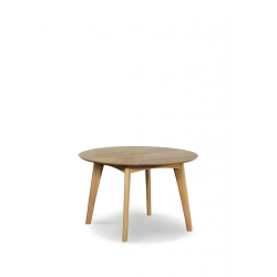 Chêne table Osso ronde 120 x 120 x 75