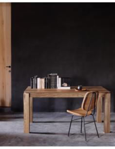 Teck table à rallonge Slice - pieds 10x10 cm 160/233  x 90 x 76