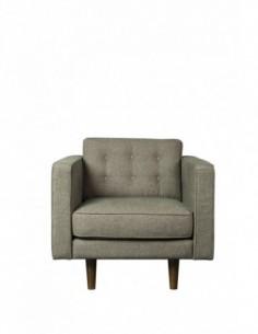 Sofa 1 seater Olive Green  -  Nouveau-100-93-80cm