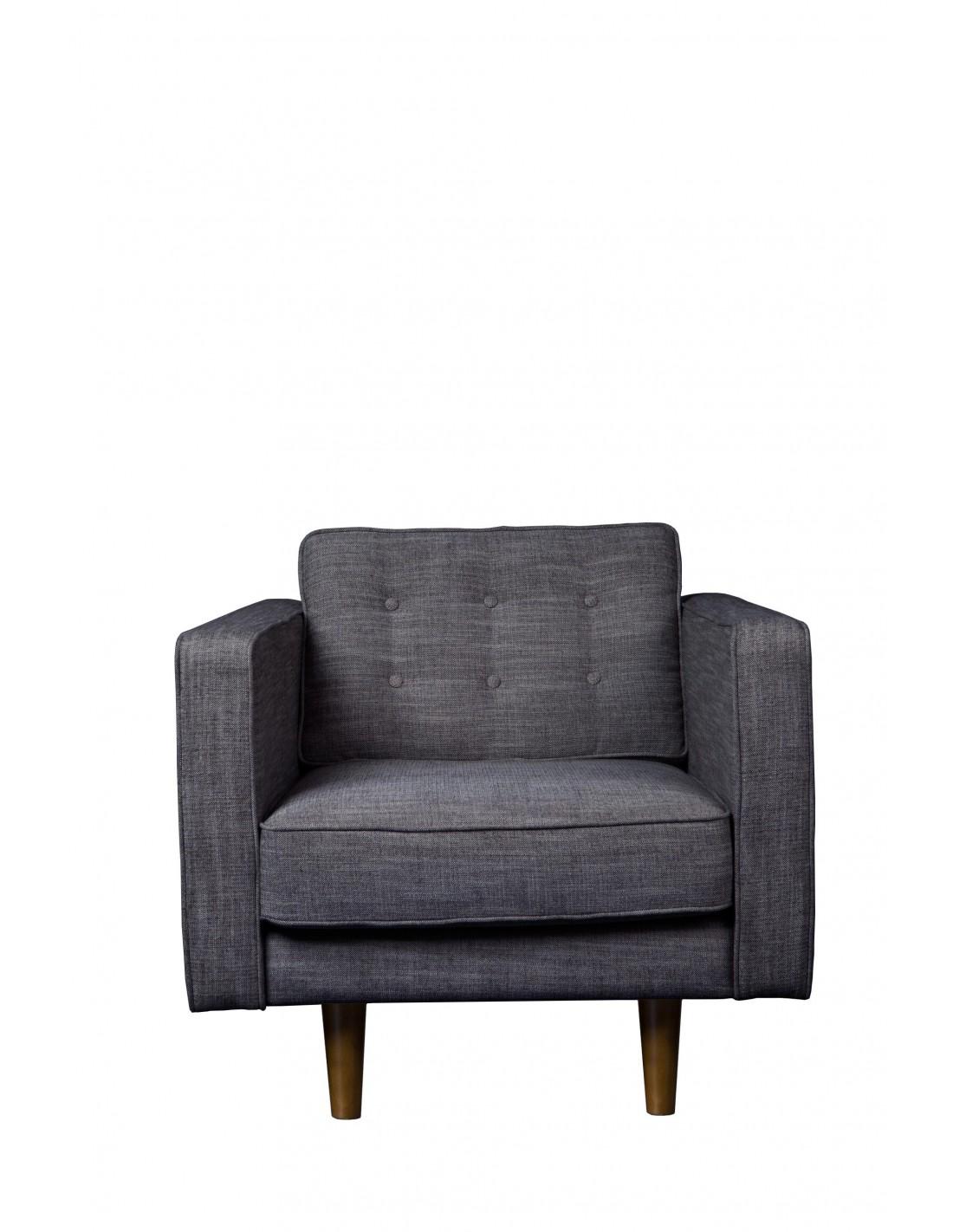N101 canapé - 1 place - Ash grey (sans coussin) 81 x 93 x 80