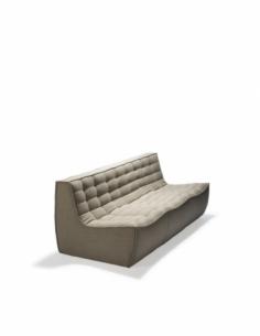 N701 sofa - 3 seater - Beige 210 x 91 x 76