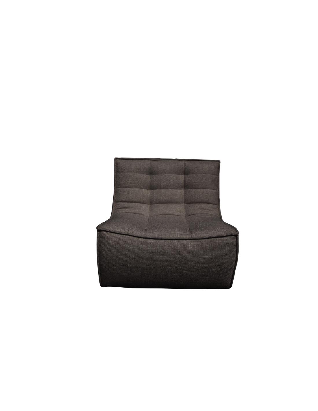 N701 canapé - 1 place - Gris foncé 80 x 91 x 76