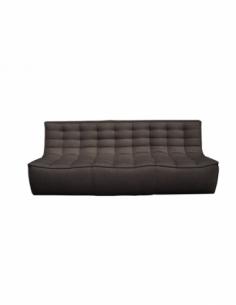 N701 canapé - 3 places - Gris foncé 210 x 91 x 76