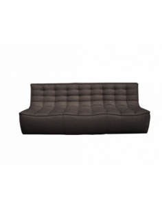 N701 sofa - 3 seater - dark grey 210 x 91 x 76