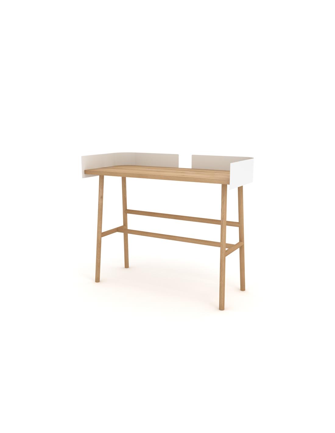 Chêne B desk - Blanc 100 x 45 x 84