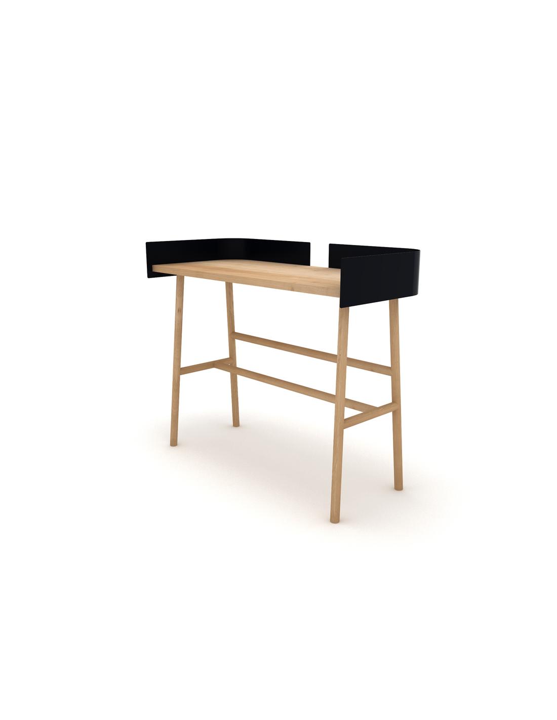Chêne B desk - Noir 100 x 45 x 84