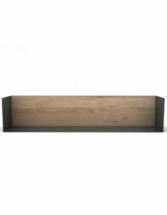 Chêne étagère U shelf L - Gris foncé 70 x 15 x 15