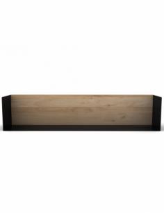 Chêne étagère U shelf L - Noir 70 x 15 x 15
