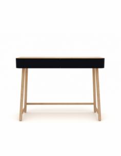 Chêne Hall console - Noir 110 x 36 x 80