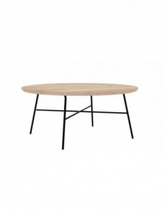 Chêne table basse ronde Disc 80 x 80 x 35