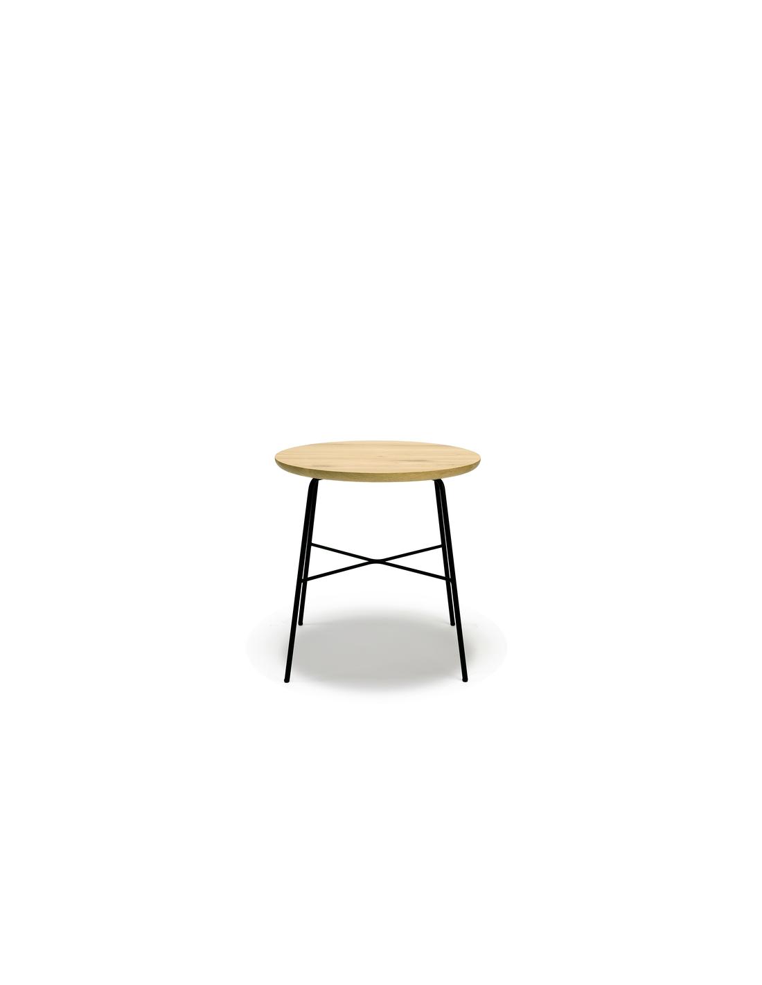 Chêne bout de canapé rectangulaire Disc 45 x 45 x 50