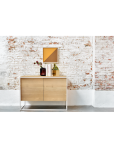 Chêne Monolit buffet - 2 portes - Blanc 110 x 45 x 78